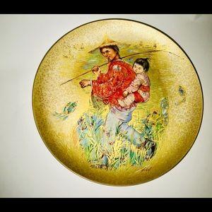 New Vintage Edna Hibel Mr Obata Gold Rosenthal